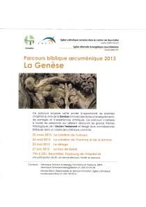 parcours biblique oecuménique - La Genèse