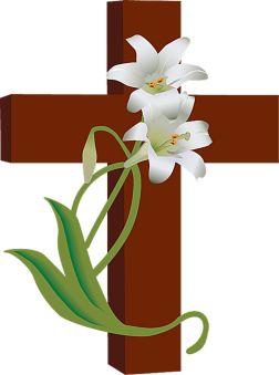 Croix et fleur